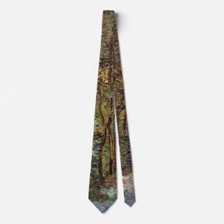 Van Gogh Path in the Woods, Vintage Fine Art Tie