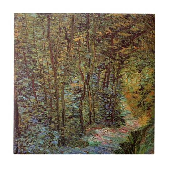 Van Gogh Path in the Woods, Vintage Fine Art Tile
