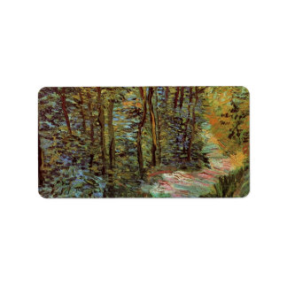 Van Gogh Path in the Woods, Vintage Impressionism Custom Address Label