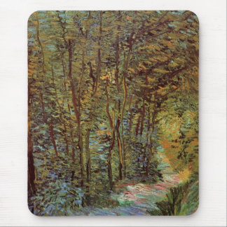 Van Gogh Path in the Woods, Vintage Impressionism Mousepad