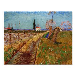 Van Gogh Path Through a Field with Willows Card