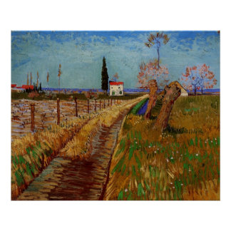 Van Gogh Path Through a Field with Willows Poster
