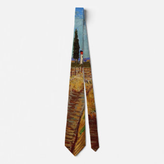 Van Gogh Path Through a Field with Willows Tie