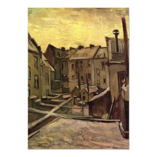 Van Gogh; Patios traseros de las casas viejas, Invitación 12,7 X 17,8 Cm
