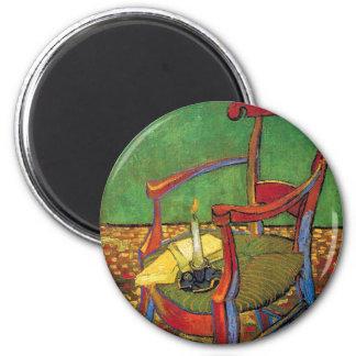 Van Gogh - Paul Gauguin's Armchair 2 Inch Round Magnet