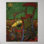 Van Gogh Paul Gauguin's Armchair, Vintage Art Poster