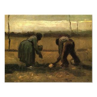 Van Gogh Peasant and Peasant Woman Planting Potato Card