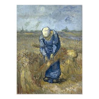 Van Gogh Peasant Woman Binding Sheaves Card