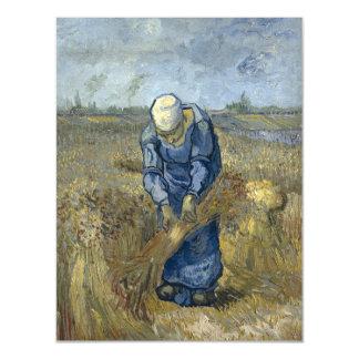 Van Gogh Peasant Woman Binding Sheaves Magnetic Card