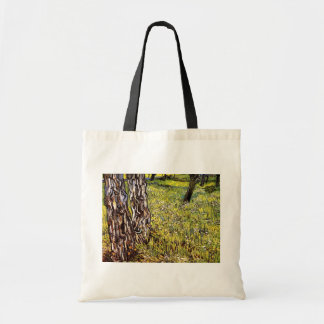 Van Gogh - Pine Trees And Dandelions Canvas Bags