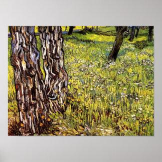 Van Gogh - Pine Trees And Dandelions Poster