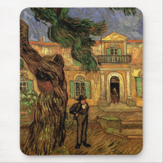 Van Gogh Pine Trees Figure Garden St Paul Hospital Mouse Pad