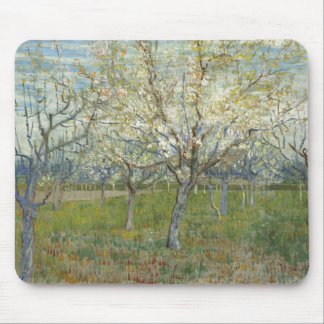 Van Gogh pink orchard Mouse Pads
