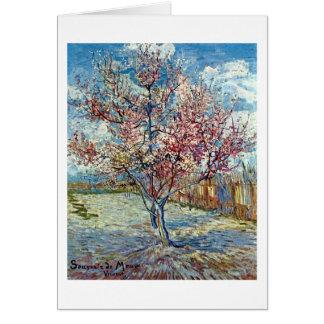 Van Gogh Pink Peach Tree (F394) Fine Art Greeting Card