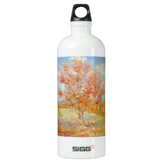 Van Gogh Pink Peach Tree in Blossom Aluminum Water Bottle