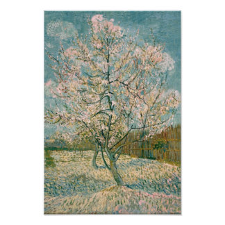 Van Gogh Pink Peach Tree in Blossom (F404) Posters