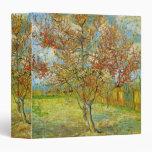 Van Gogh Pink Peach Tree in Blossom, Fine Art 3 Ring Binders