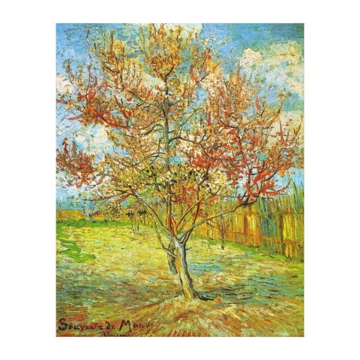 Van Gogh Pink Peach Tree in Blossom, Fine Art Canvas Print
