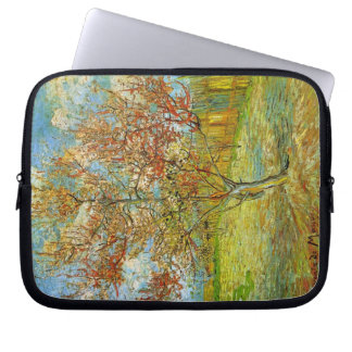 Van Gogh Pink Peach Tree in Blossom, Fine Art Laptop Sleeve
