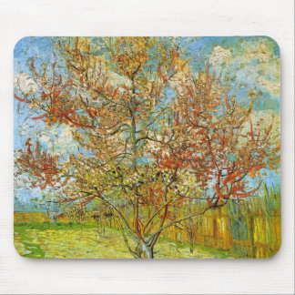 Van Gogh Pink Peach Tree in Blossom, Fine Art Mouse Pad