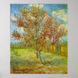 Van Gogh Pink Peach Tree in Blossom, Fine Art Poster