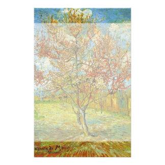 Van Gogh Pink Peach Tree in Blossom, Fine Art Stationery