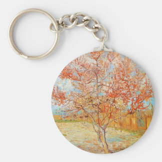 Van Gogh Pink Peach Tree in Blossom Key Chain