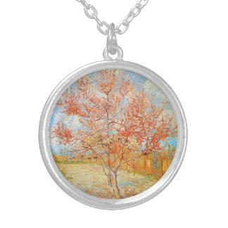 Van Gogh Pink Peach Tree in Blossom Necklace