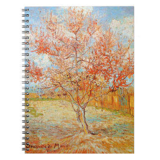 Van Gogh Pink Peach Tree in Blossom Notebook
