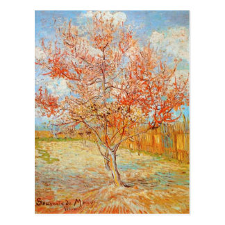 Van Gogh Pink Peach Tree in Blossom Postcard