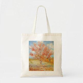 Van Gogh Pink Peach Tree in Blossom Tote Bag