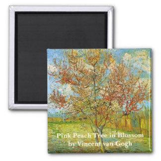 Van Gogh Pink Peach Tree in Blossom Vintage Art Fridge Magnet