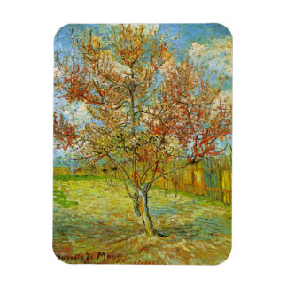 Van Gogh Pink Peach Tree in Blossom Vintage Art Magnets
