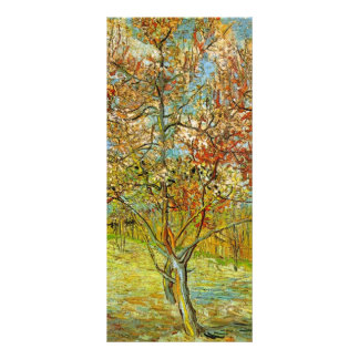 Van Gogh Pink Peach Tree in Blossom Vintage Art Full Color Rack Card