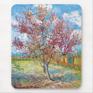 Van Gogh - Pink Peach Trees Mouse Pad