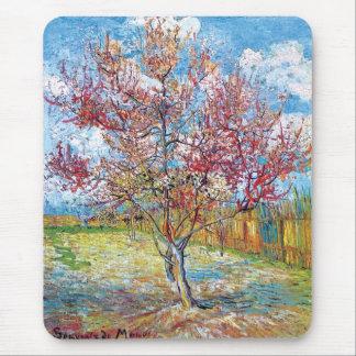 Van Gogh - Pink Peach Trees Mouse Pad