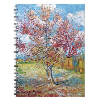 Van Gogh - Pink Peach Trees Notebook
