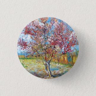 Van Gogh - Pink Peach Trees Pinback Button