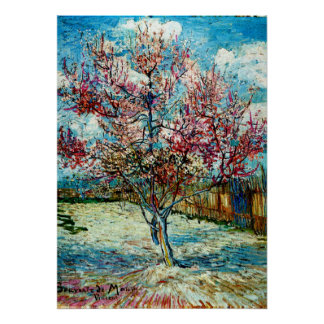 Van Gogh - Pink Peach Trees Poster