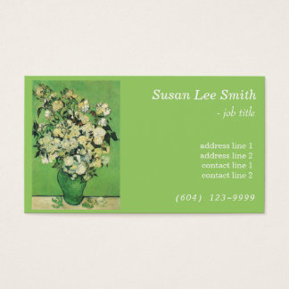 Van Gogh Pink Rose in a Vase professional business Business Card