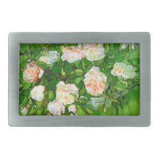 Van Gogh Pink Roses Belt Buckle