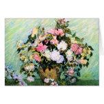 Van Gogh Pink Roses Note Card