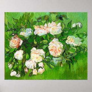Van Gogh Pink Roses Poster
