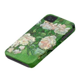 Van Gogh Pink Roses, Vintage Garden Fine Art iPhone 4 Case