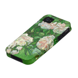 Van Gogh; Pink Roses, Vintage Still Life Art iPhone 4/4S Cover