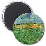 Van Gogh; Plain Near Auvers, Vintage Impressionism Refrigerator Magnets