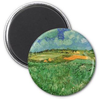 Van Gogh Plain Near Auvers Vintage Impressionism Refrigerator Magnets