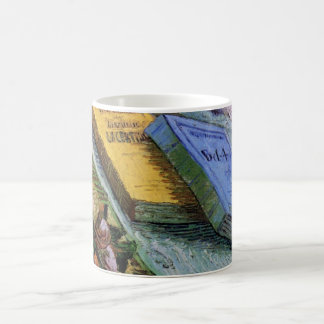 Van Gogh, Plaster Statuette, a Rose and Two Novels Coffee Mug