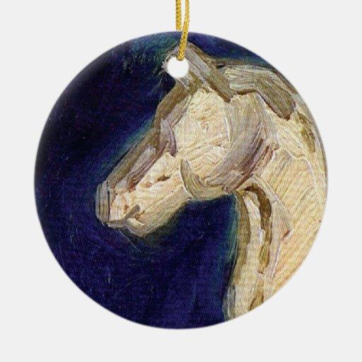 Van Gogh - Plaster Statuette Of A Horse Christmas Ornament