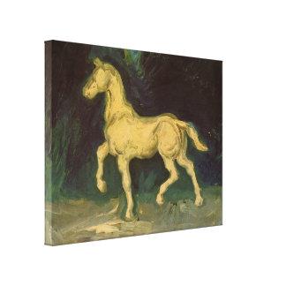 Van Gogh Plaster Statuette of a Horse, Vintage Art Canvas Print